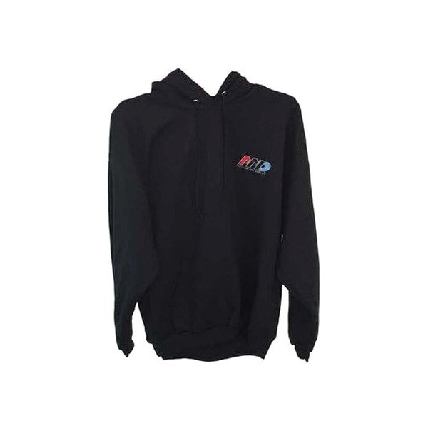Auto Metal Direct® - Men's AMD Large Black Pullover Hoodie