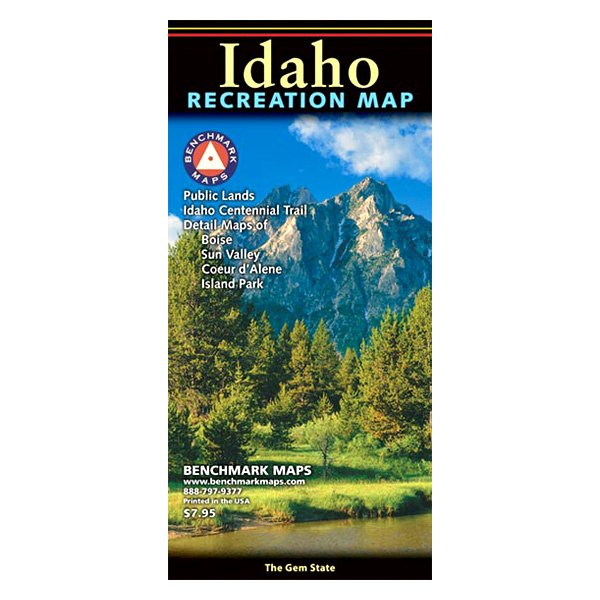 Benchmark Maps® BE0BENIDRM - Idaho Recreation Map on idaho rivers, idaho location on map, idaho county map, idaho blm maps, idaho nrcs mlra map, idaho natural resources map, boulder city idaho map, idaho department of lands map, u.s. federal land map, idaho hunting map, idaho most beautiful, kootenai county snow load map, idaho sand dunes map, idaho unit 28 elk population, new mexico blm land map, kootenai county zoning map, idaho land use map, idaho big game unit map,