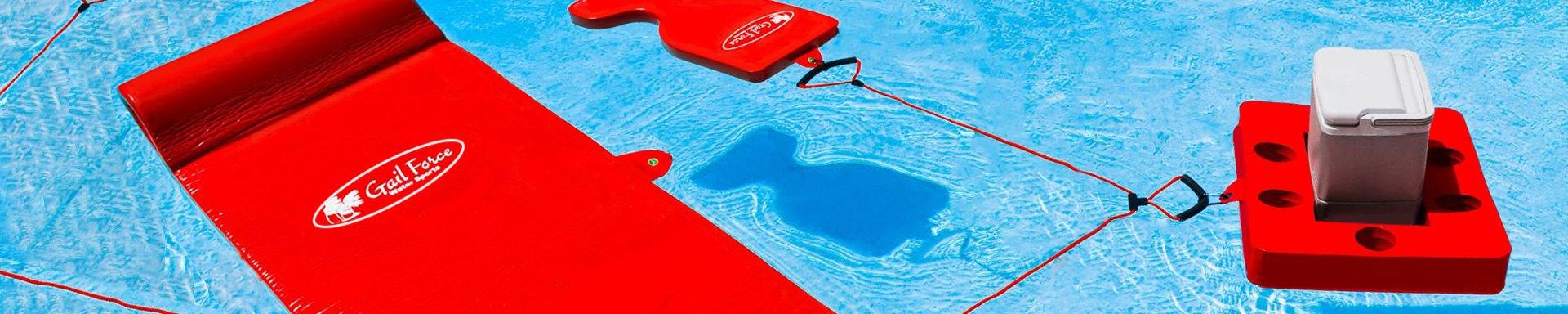Gail Force Water Sports Saddle Float Orange