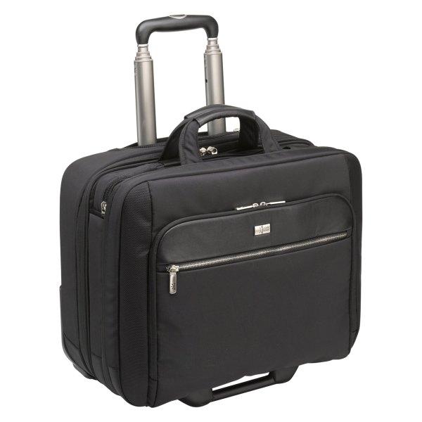 Case Logic® - Checkpoint Friendly™ Black Leather/Nylon Rolling Case