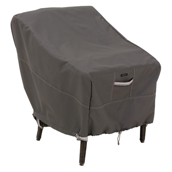 "Classic Accessories® - Ravenna™ Water-Resistant Rectangular Dark Taupe Standard Patio Chair Cover (25.5""L x 28.5""W x 26""H)"