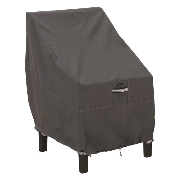 """Classic Accessories® - Ravenna™ Water-Resistant Rectangular Dark Taupe High Back Patio Chair Cover (25.5""""L x 32.5""""W x 34""""H)"""