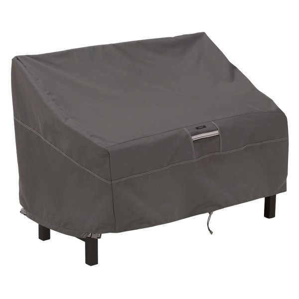 "Classic Accessories® - Ravenna™ Water-Resistant Rectangular Dark Taupe Patio Bench Cover (50""W x 28.5""D x 30""H)"