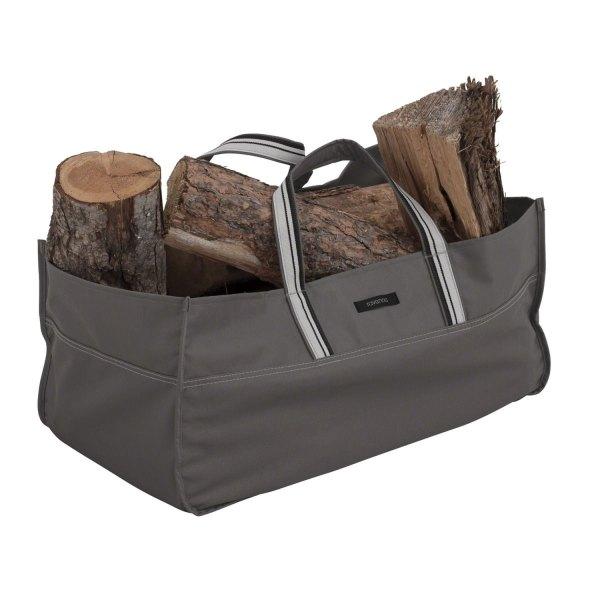 """Classic Accessories® - Ravenna™ Dark Taupe Jumbo Log Carrier (24"""" L x 11.75"""" W x 11.75"""" H)"""