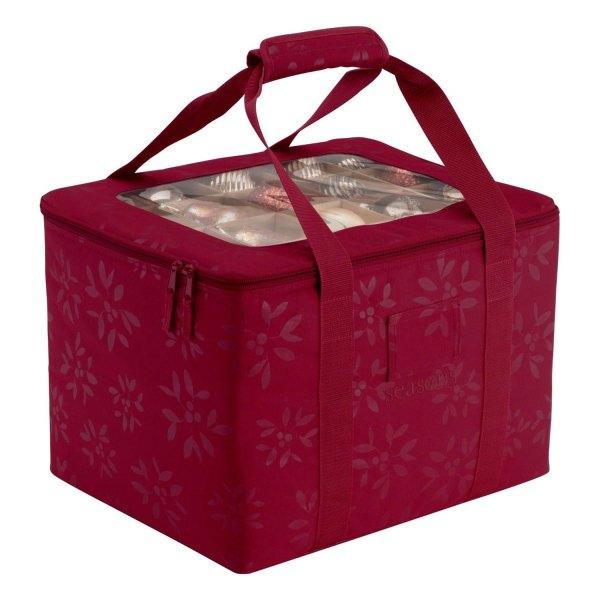 "Classic Accessories® - Seasons™ 16"" x 13"" x 12"" Red Christmas Tree Storage Bag"