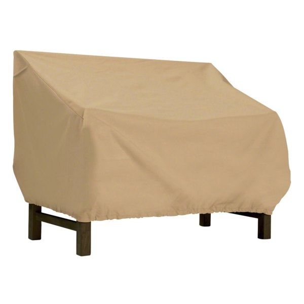 """Classic Accessories® - Terrazzo™ Water-Resistant Rectangular Sand Patio Bench/Loveseat Cover (75""""W x 32""""D x 31""""H)"""