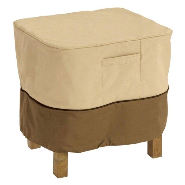 """Classic Accessories® - Veranda™ Square Pebble Patio Ottoman/Side Table Cover (21""""L x 21""""W x 17""""H)"""