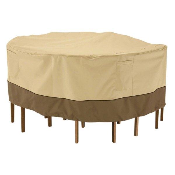 "Classic Accessories® - Veranda™ Round Pebble Water-Resistant Patio Table & Chair Set Cover (70""Dia x 23""H)"