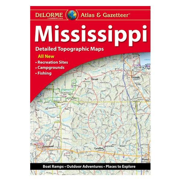 DeLorme® AA-001488-000 - Mississippi Atlas & Gazetteer Paper Maps on