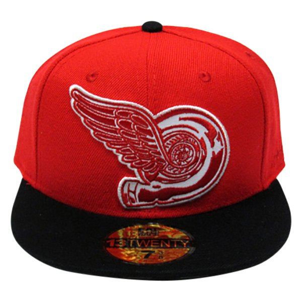 cae47579f864a9 Eat Sleep Race® 3EF344D9-7 - 7 Red/Black Turbo Wing Fitted Hat ...