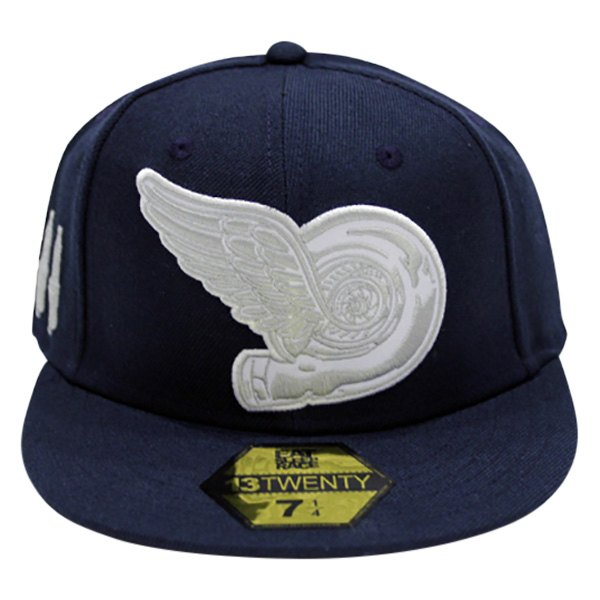 b83971269ff3d9 Eat Sleep Race® EE8F69EF-8 - 8 Navy Blue Turbo Wing Fitted Hat ...