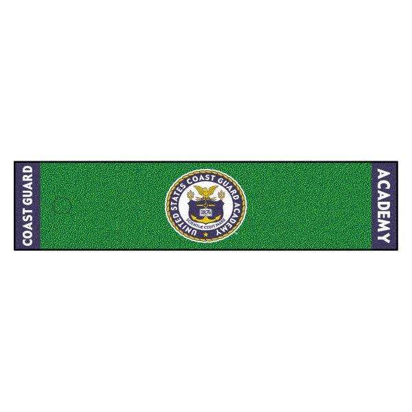 FanMats® - US Coast Guard Academy Bear Logo on Golf Putting Green Mat