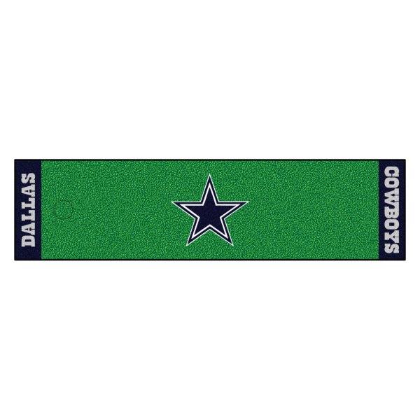 FanMats® - NFL Dallas Cowboys Logo on Golf Putting Green Mat