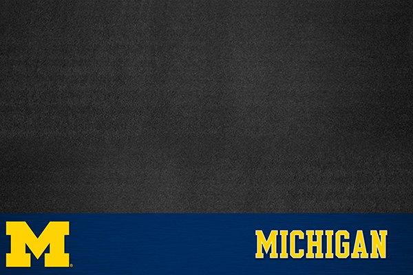 "FanMats® - Grill Mat with ""Block M"" Logo & ""Block Michigan"" Wordmark"
