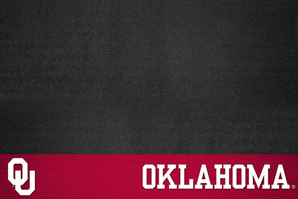 """FanMats® - Grill Mat with """"OU"""" Logo & """"Oklahoma"""" Wordmark"""