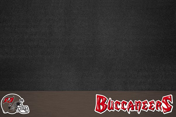 """FanMats® - Grill Mat with """"Pirate Flag"""" Logo & Wordmark"""