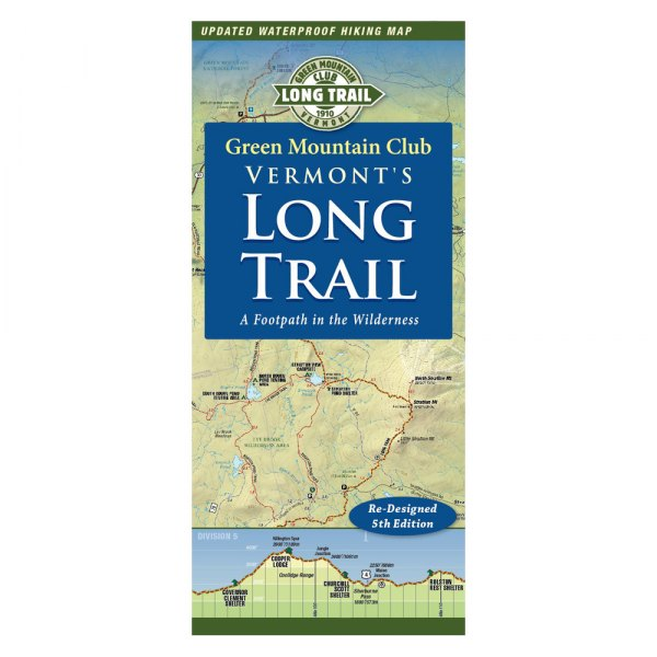 Green Mountain Club® 9781888021462 - Vermont\'s Long Trail Map