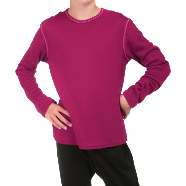 Hot Chillys Kids Thermal Mid Weight Pepper Skins Crewneck