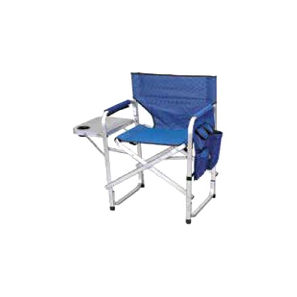 Mings Mark SL1204-Blue Directors Chair with Full Back and Side Table Blue