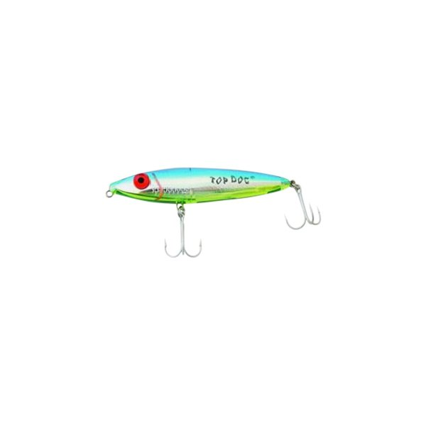 "MirrOlure® - Top Dog™ Surface Walker 4"" Blue Back/Translucent Chartreuse Belly/Silver Scale Hard Bait"