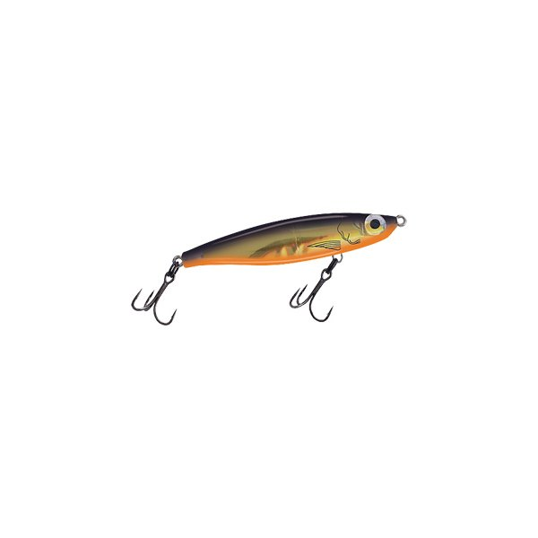 "MirrOlure® - C-Eye™ Catch 2000™ Suspending Twitchbait 3.5"" Black Back/Fluorescent Orange Belly/Gold Scale Hard Bait"