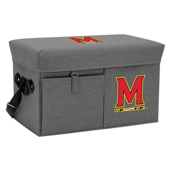 Picnic Time® - Ottoman NBA Maryland Terrapins 24-Can Gray Soft Cooler with Seat