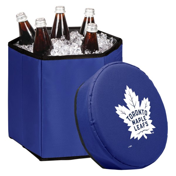 Picnic Time® - Beer Caddy NHL Toronto Maple Leafs 6-Bottle Black Cooler Tote
