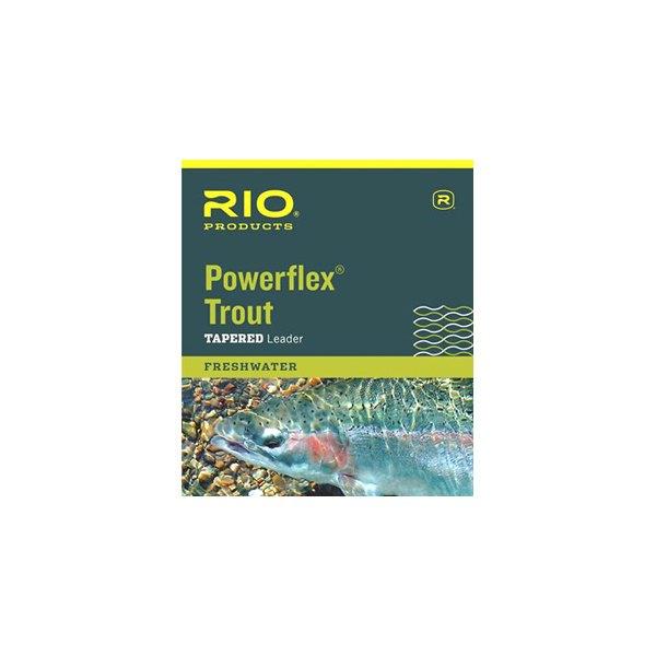 6ea RIO TROUT Powerflex leaders 7 1//2 pied 5X 5 LB environ 2.27 kg