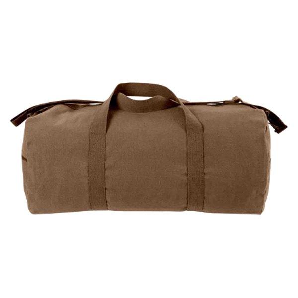 "Rothco® - 24"" x 12"" Earth Brown Canvas Shoulder Duffle Bag"