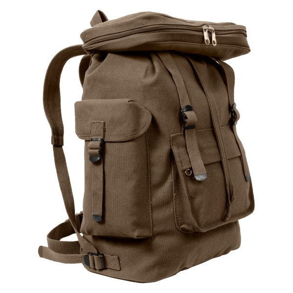 """Rothco® - European Style™ 20"""" x 13"""" x 7.5"""" Earth Brown Tactical Backpack"""