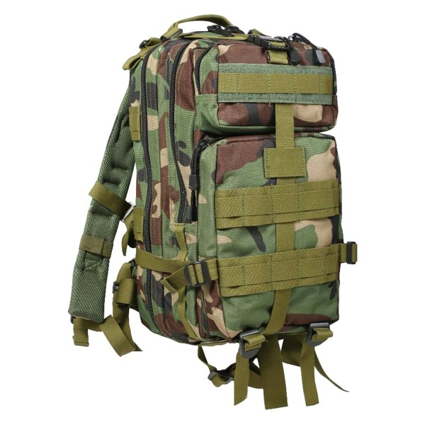 "Rothco® - 17"" x 10"" x 9"" Woodland Camo Tactical Backpack"