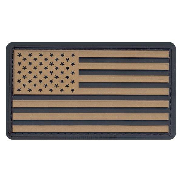 """Rothco® - U.S. Flag 2"""" x 3.5"""" Black/Khaki PVC Patch"""