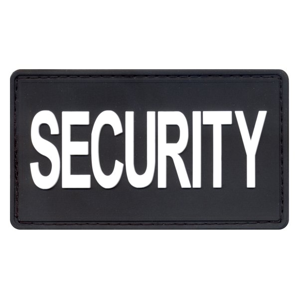 """Rothco® - """"SECURITY"""" 2"""" x 3.5"""" Black/White PVC Rubber Patch"""