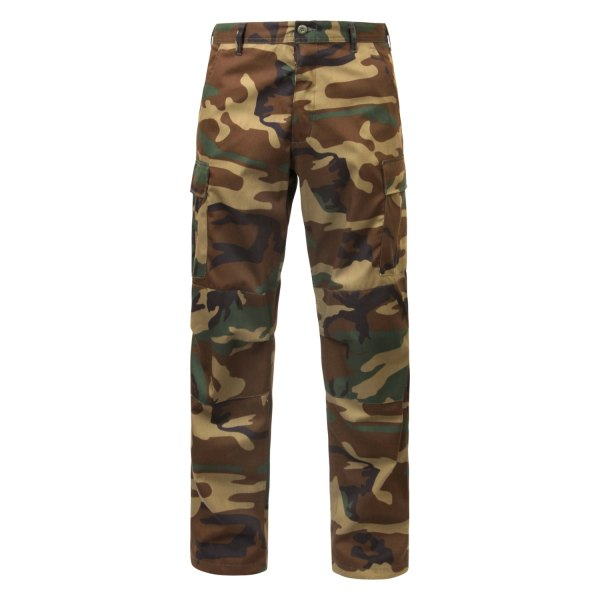 """Rothco® - Woodland Camo Men's Relaxed Fit Zipper Fly BDU Pants (47"""" Waist)"""