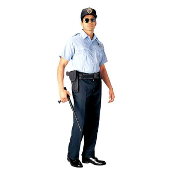 Rothco® - Law Enforcement & Security Professionals 3X-Large Light Blue Men's Short Sleeve Uniform Shirt