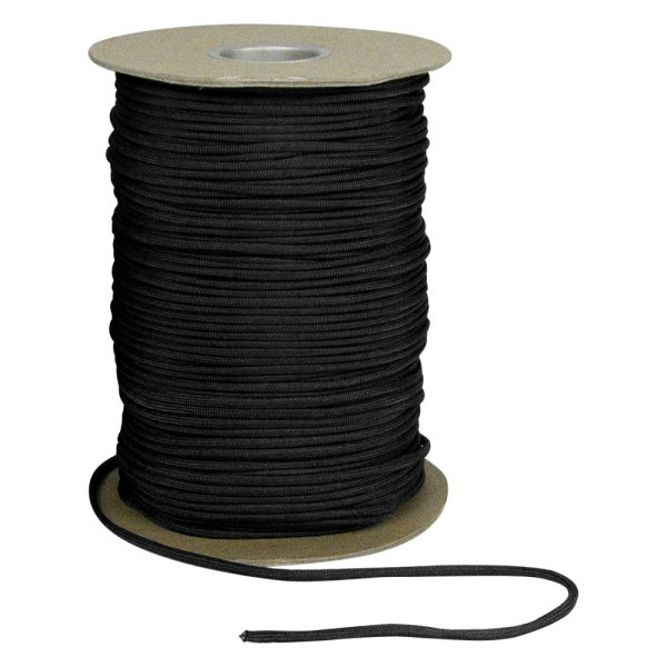 Rothco® - 1000' Black Nylon Paracord Spool