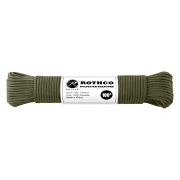 Rothco® - 100' Olive Drab Polyester Paracord