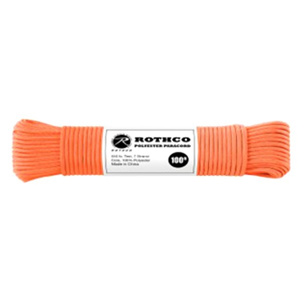 Rothco® - 100' Safety Orange Polyester Paracord
