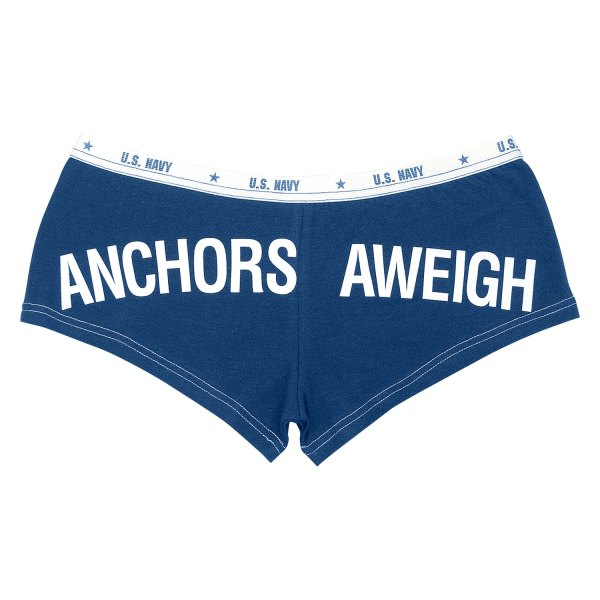 """Rothco® - """"Anchors Aweigh"""" Large Navy Blue Men's Booty Shorts"""