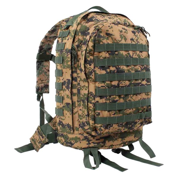 "Rothco® - MOLLE II™ 20"" x 16.5"" x 14.5"" Woodland Digital Camo 3-Day Tactical Backpack"