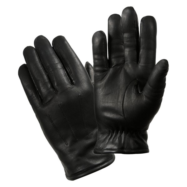 Rothco® - Medium Black Leather Cold Weather Police Duty Gloves