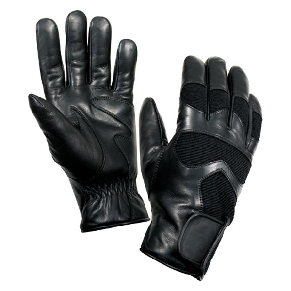 Rothco® - Large Black Leather Cold Weather Shooting Gloves
