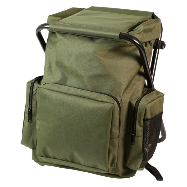 "Rothco® - 17.5"" x 11"" x 4"" Olive Drab Tactical Backpack with Stool Combo Pack"