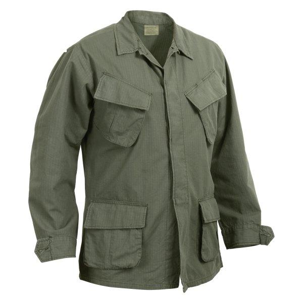 Rothco® - Vintage Vietnam 3X-Large Olive Drab Men's Ripstop Long Sleeve Fatigue Shirt