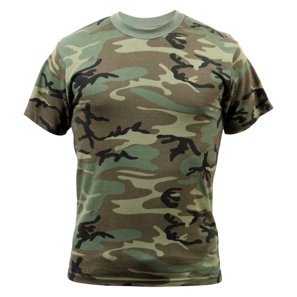 Rothco® - Vintage 3X-Large Woodland Camo Men's T-Shirt