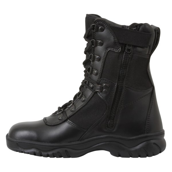 """Rothco® - Forced Entry 9 Black Men's 8"""" Tactical Boots with Side Zip"""