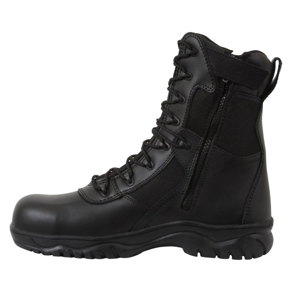"Rothco® - Forced Entry 15 Black Men's 8"" Tactical Boots with Side Zip and Composite Toe"