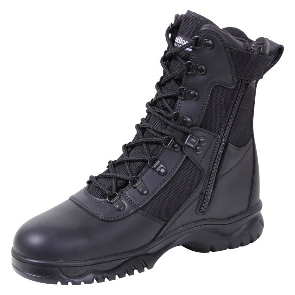"""Rothco® - Insulated 5 Black Men's 8"""" Tactical Boots with Side Zip"""