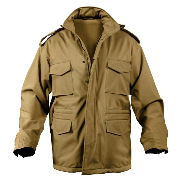 Rothco® - M-65 XX-Large Coyote Brown Men's Soft Shell Tactical Field Jacket