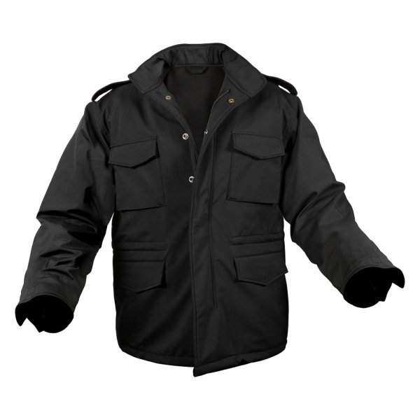 Rothco® - M-65 XX-Large Black Men's Soft Shell Tactical Field Jacket